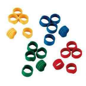 Spiralring Kunststoff, farblich gemischt, 100 St./Pack