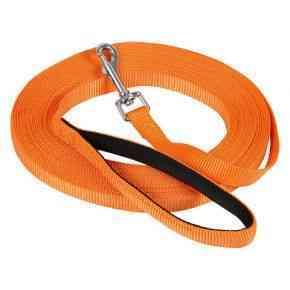 Suchleine Miami mit Softgriff, orange, 10m x 20mm