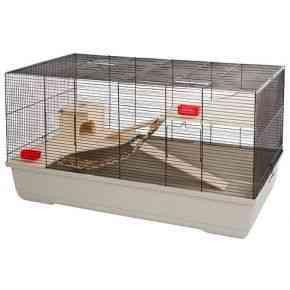 Kleintierkäfig Gabbia Hamster 102, beige, 100x53x55 cm