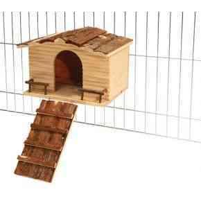 NATURE Haus mit Gitterbefestigung 30x22,5x20cm