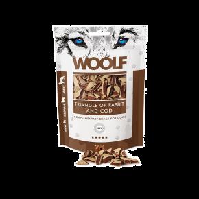 WOOLF Kaninchen & Kabeljau Dreiecke, 100 g
