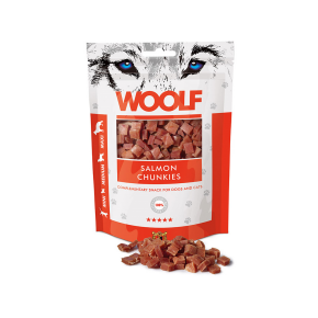 WOOLF Lachs Stückchen, 100 g